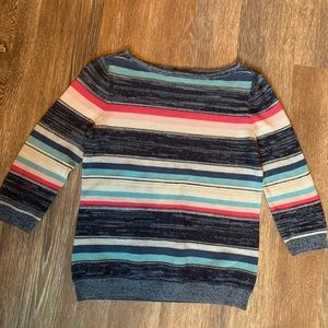 Chaps multicolored sweater with 3/4 sleeves
